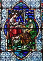 Cathedral Church of Saint Patrick (Charlotte, North Carolina) - stained glass, A sinful woman anoits Christ's feet.JPG