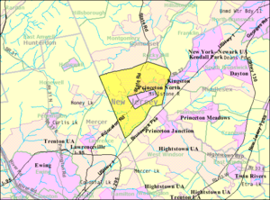 Princeton Township, New Jersey - Image: Census Bureau map of Princeton Township, New Jersey