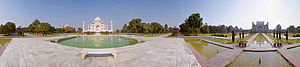 Bagh (garden) - 360° panoramic view of the Charbagh at the Taj Mahal, India