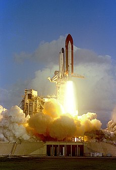 Space Shuttle Challenger, which Endeavour replaced, launching on STS-7 in June 1983. Image: NASA.