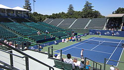 Chang v. Larcher de Brito at Bank of the West Classic qualifying 2010-07-25 1.JPG