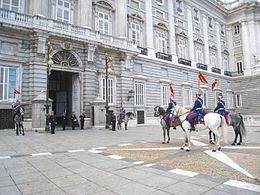 Changing of the Guard, Royal Palace of Madrid - horse 1.JPG