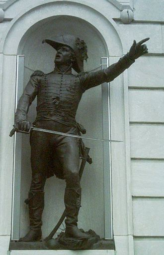Charles de Salaberry - Statue of Charles-Michel d'Irumberry de Salaberry at the Parliament Building (Quebec)