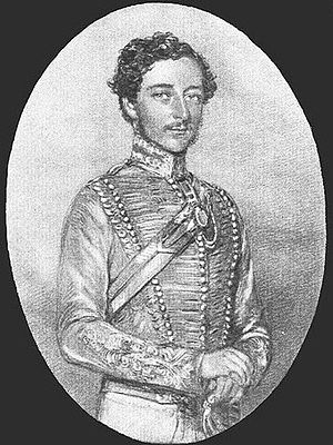 Charles John Stanley Gough - A young Gough, circa 1850, in the uniform of the 8th Bengal Light Cavalry