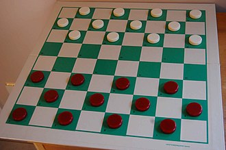Draughts - Starting position for English draughts on an 8×8 draughts board