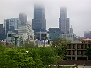 University of Illinois system - The Chicago Loop as seen from the UIC Campus