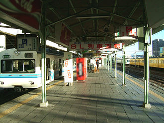 Kumagaya Station - The Chichibu Railway platform in January 2008