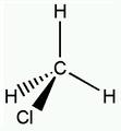 Chloromethane structure.png