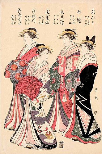 Eishi - Image: Chobunsai Eishi c. 1800, Woodblock print; ink and color on paper