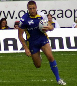 Chris Hicks (rugby league) - Hicks playing for Warrington in 2008