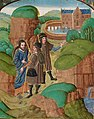 Christ appears to two disciples on the road to Emmaus (f. 137) Cropped.jpg