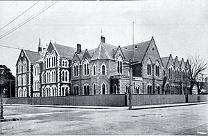 Cranmer Centre - The building in 1913. The 1907 extension is to the right, with the main entrance portal relocated to that part of the building. The 1912 extension is to the left.