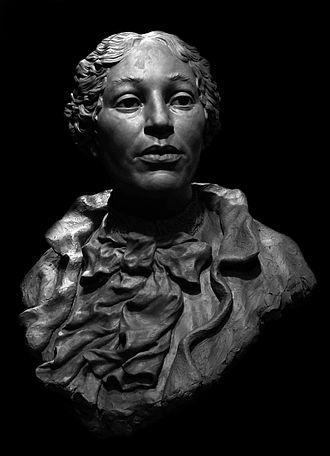 Christiana Carteaux Bannister -  Bronze portrait bust State House, Providence, RI, 2002