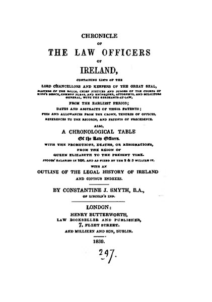 File:Chronicle of the law officers of Ireland.djvu