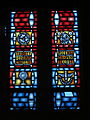 Church of the Holy Family (Grand Blanc, Michigan) - interior, stained glass, Trinity, Corpus Christ, Ascension, Pentecost.jpg