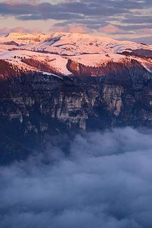 Il versante vicentino del Monte Grappa