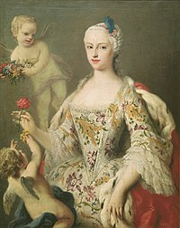 Circa 1750 portrait painting of the Infanta Maria Antonia of Spain (1729-1785) by Jacopo Amigoni (Prado).jpg