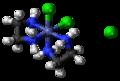 Cis-Dichlorobis(ethylenediamine)cobalt(III) chloride 3D ball.png