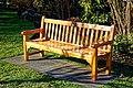 City of London Cemetery Memorial Gardens memorial bench seat 02.jpg