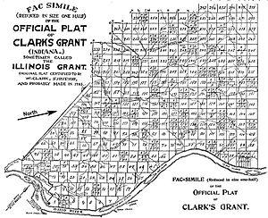 Clark's Grant - Original plat of Clark's Grant