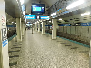 Clark/Lake station - Image: Clark Lake subway 1
