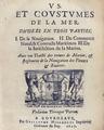 Cleirac - Vs et coustumes de la mer, 1647 - 102.tif