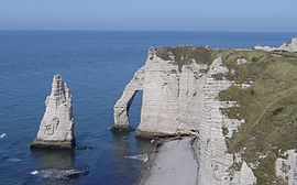 The cliffs at Étretat