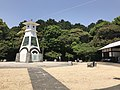 Clock tower in front of Sancho Station of Iwakuni Castle Ropeway 2.jpg
