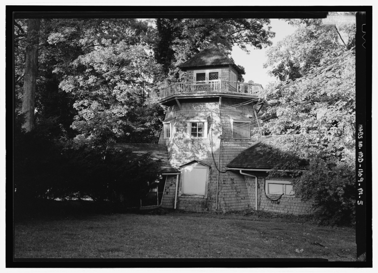 File:Closer view of windmill - National Park Seminary ...