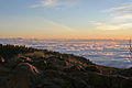 Clouds around the Teide Caldera, evening glow (1321654505).jpg