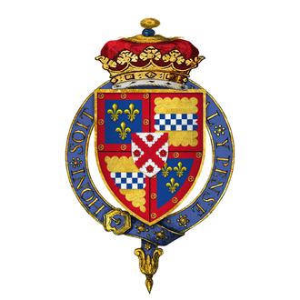 James Stewart, 1st Duke of Richmond - Arms of Sir James Stewart, 4th Duke of Lennox, 1st Duke of Richmond, KG