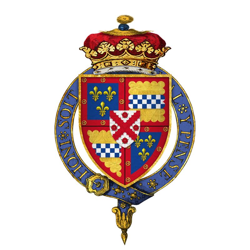 Coat of arms of Sir James Stewart, 4th Duke of Lennox, 1st Duke of Richmond, KG.png