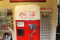Coca Cola Bottling Machine, Biedenharn Museum and Gardens IMG 4101.JPG