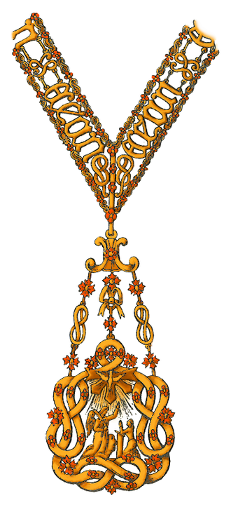 Supreme Order of the Most Holy Annunciation - Image: Collar badge of the Most Holy Annunciation