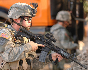 M4 carbine - M4 with M68 Close Combat Optic and AN/PAQ-4