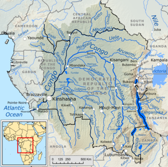 Congo Basin - Course and drainage basin of the Congo River