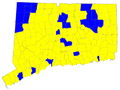 Connecticut Senatorial Election Results by municipality, 2006.png