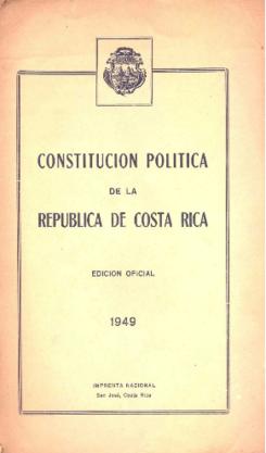Resultado de imagen para Constitución política del 49, costa rica