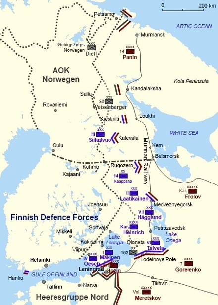 The front in Finland, December 1941 Continuation War December 1941 English.jpg