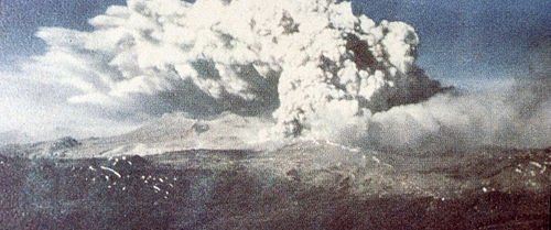 Eruption of Cordon Caulle following the 1960 Valdivia earthquake Cordon Caulle eruption 1960.jpg