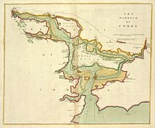 Map of Cork Harbour, ca. 1702