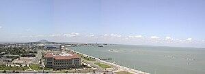 Corpus Christi Bay - A spoils island shown from the shore of Corpus Christi Bay at Rincon Point