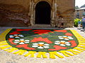 Corpus Christi flower carpet in Tamarite 2006-033.jpg