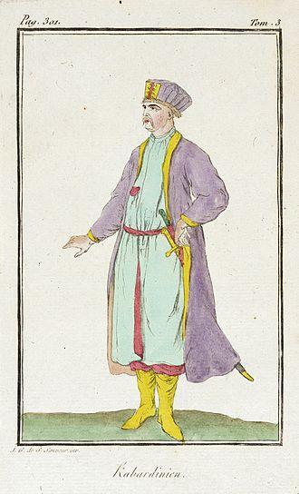 Kabardians - Image: Costume Plate (Kabardinien) LACMA M.87.231.42