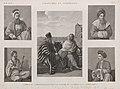 Costumes et portraits. 1. L'Emir Hâggy (Amir al-Hajj); 2. Habitans de l'oasis et du Mont Sinaï; 3. Le Cheykh Sâdât; 4. Le joueur de violon; 5. Habitant de Damas (Damascus) (NYPL b14212718-1268853).jpg