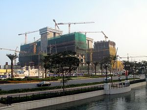 Sands Cotai Central - The development under construction in 2007, five years before opening.