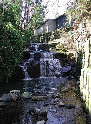 Cottingley Fairies - Cottingley Beck, where Frances and Elsie claimed to have seen the fairies