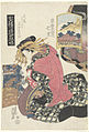 Courtisane Shichiri uit het Sugata Ebiya huis, vergeleken met het station Hiratsuka.-Rijksmuseum RP-P-2008-243.jpeg
