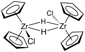 Schwartz's reagent - Image: Cp 4Zr 2H2Cl 2