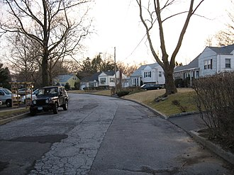 Crestwood, Yonkers - Kincaid Drive at Crisfield Street in the Crestwood section of Yonkers.